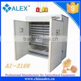 Best selling 3168 chicken egg incubator machine with automatic water adding device and eggtester