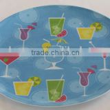 New Designed colorful round custom print melamine plates (PL-09)