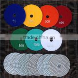 Diamond Polishing Pads Disc Sander Pad 4 inch Wet 3 mm Thick 7 Pieces Set Granite Stone Marble Tile Concrete Polishing