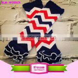 Baby Girls Chevron Leg Warmers 4th of July Baby LegWarmers blue red white color Kids Leg warmers