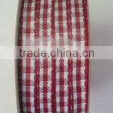 HOT SALE! Red/White Checked / Tartan Woven Fabric Gift Packaging Ribbon, Tartan Woven ribbons for Gift Wrapping