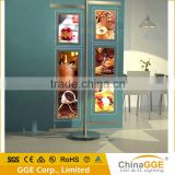 Suspending Cable LED Restaurant Menu Board Backlit Advertising Board Magnetic LED Pocket Double Sided Light Box