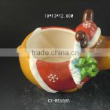 ceramic soup bowl kitchenware mug for soup Stoneware bowl+spoon+lid cheap price