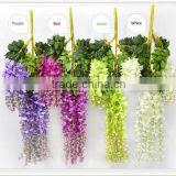 Factory price Wholesale White wisteria flower and hydangea flower centerpieces for wedding table