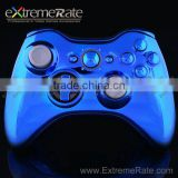 plastic Shell Chrome Blue For XBOX 360 Controller with joystick