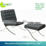 Living room leather replica barcelona chair