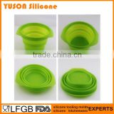 Food grade BPA free silicone collapsible strainer