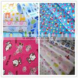 100% Cotton Print Flannelette Fleece Cloth For Making Baby diaper ,blanket