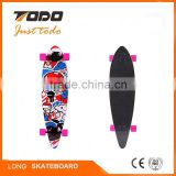 Hot sell in wheel hub motor high quality electric board long deck motorised skate boards