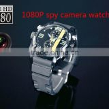 Full hd 1080P Night Vision spy waterproof watch camera watch dvr with 4gb 8gb 16gb optional