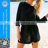 Domi Summer Hot Selling Black,Army Green,khaki Handmade Knitted Dress Beach Dress