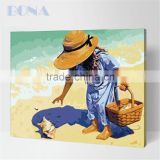 Bona Oil Painting By Numbers Kits children on beach paintings