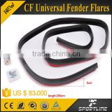 250*5cm Car Carbon Fiber Universal Fender Flares Arch Front Bumper Extention Chin Lip Trim