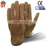 Newest Safety Working Cow Split Brown Leather Gloves