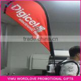 wholesale dye sublimation 110g knitted polyester aluminium pole 67x115cm outdoor advertising custom backpack flag