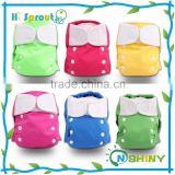 Hook & Loop Tape Bamboo Reusable Baby Cloth Diaper Wholesale
