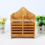 Bamboo Kitchen Utensil Caddy, Bamboo Utensils drying Holder