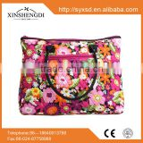 2016 Hot best selling 100% cotton high quality quilted fabric floral fashion fancy shopping tote ladies handbag