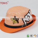 Kids Hats and Caps Fedora to Decorate for Jazz Dance Dress 2016 Fashion Design with Appliqued Letters and Pattern