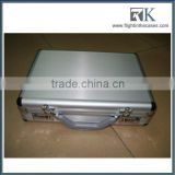 Silver Custom Aluminum Laptop Carrying Case For Women With Metal Lock