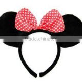 Wholesale Minnie Mouse Ears Headband/MINNIE MOUSE Headband+EARS+BOW~Costume