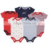 Kids Clothes Factory Manufacturer Eco-friendly 100% cotton bodysuits baby romper clothes customized