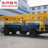 Inquiry About Trailer mounted rotary table water well drilling rig BZT-300(300m)