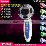 RF Radio Frequency Ultrasonic EMS Photon Vibrations Led Light Skin Tighten Wrinkle Beauty Massager Facial Sonophoresis Machine