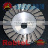 STCT Turbo Rim Diamond Grinding Cup Wheel for Granite with Aluminium Body (tools parts)-sunny