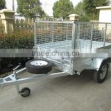 2015 hot sales!!! CE certification box trailer 6x4 HOT DIP GALVANISED WELDED TIPPER BOX TRAILER WITH 600mm