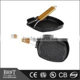 Folding handle Cast alum non-stick grill pan Korean folding handle frying pan