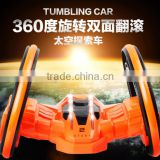 2 Wheels Capsule Space Toy Stunt Car, Anti-throw 360 Degree Roll Rotating Tumbling Car, Electric Stunt Radio Control Toy Car