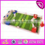 2015 Kids indoor Mini Football/Soccer Board/Table Game for promotional,Wholesale Wooden Mini Football Game Table Toy W01A087
