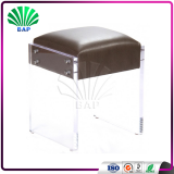 Modern Bar Stool Clear Lucite Counter Stool Acrylic Living Room Ottomans