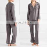 Dubai Women Sleepwear Jersey Pajama Set Women Silk Nighty Sleepwear Nightgown Women Sleepwear