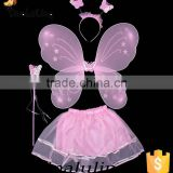 baby pink fashion fairy wings cheap china party supplier holiday decorations