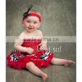 Kids Girls Red Crochet Tube Top Photo Prop 12M-3 Years