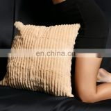 Plain soft Real Rabbit Fur Sofa Cushion Cover