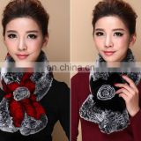 Factory direct supply high quality real fur scarf