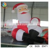 Hello New Year decoration inflatable santa