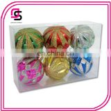 New design Plastic mix color Christmas tree decor festival hang-painted ball
