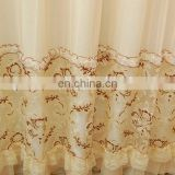 simple clean modern style living room decoration 150cm width embroidered polyester organza curtain