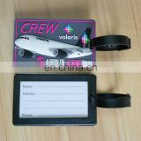 custom 3D travel airplane aircraft luggage tag name tag for travelling bag