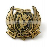 High Quality Customer Logo Antique plated Silver Gold Belt buckle