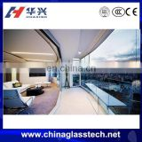 Exterior soundproof laminated glass unitized curtain wall system
