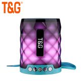 TG155 HOT SELL COLOUR LIGHT FLASH BT SPEAKER WITH FM MINI BASS WIRELESS SPEAKER SUPPORTED OEM GIFT SPEAKER WITH IPX4