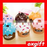 Oxgift Home cute ice cream cake paper towel tube tissue box/plastic desk table towel napkin holder case best home