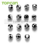 Topearl Jewelry Assorted Stainless Steel European Charm Bead Black White Silver TCP04