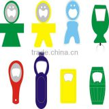 High quality acrylic beer bottle opener with fridge magnet