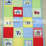 cotton patchwork baby beding set cot quilt with bumper